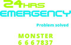 Monster Plumbing Footer Logo